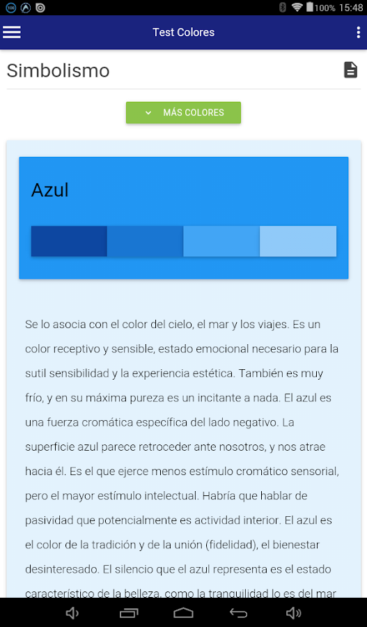Test de los Colores- screenshot
