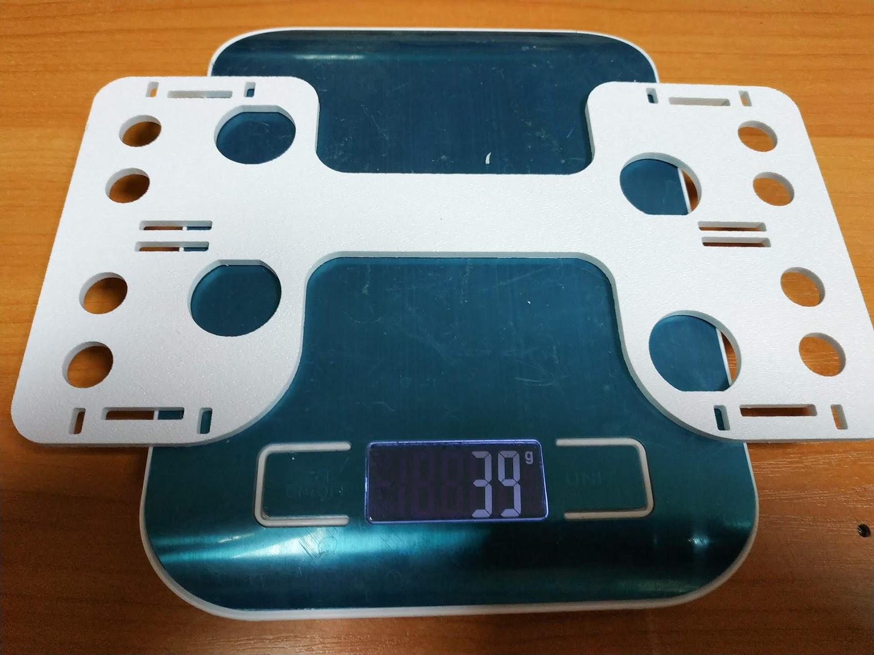Вес оригинальной детали 39 гр.