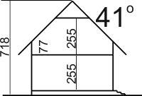 Domek Lipowy szkielet drewniany 020 JK V3 - Przekrój