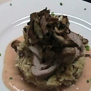 Pork Tenderloin With Wild Mushroom Orzo