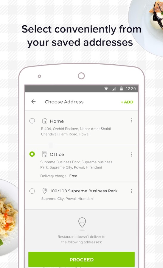 Runnr Food Ordering- screenshot