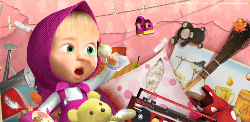 Masha and the Bear: free house cleaning games and laundry games for girls