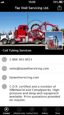 android Taz Well Servicing Ltd. Screenshot 2