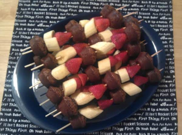 Fruit And Brownie Kabob Recipe