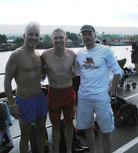 Photo: The Winston-Salem NC NC boys early morning on on the pier — with Jeff Ickes and Ken Bush in Kailua-Kona, Hawaii
