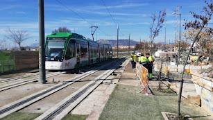 Imagen de archivo del tranvía en Granada.