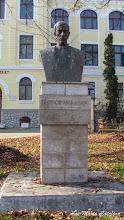 "Photo: Str. Dr. Ioan Ratiu, Nr.111 - Colegiul National ""Mihai Viteazul"" - Bustul lui Teodor Murasanu (2013.10.29)"