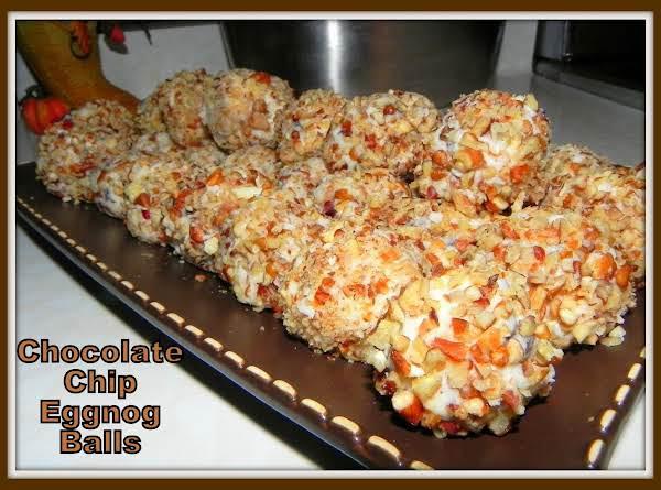 Chocolate Chip Egg Nog Balls Recipe