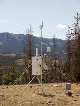 Photo: Norton Point Fire; Shoshone NF; WY; 2011; RAWS Station