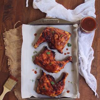 Rhubarb-B-Q Chicken Legs