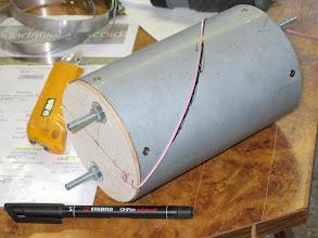 Photo: traçage de l'ellipse