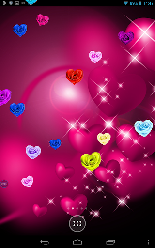 Roses Hearts on Screen