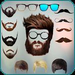 Men beard photo editor Mustache : Hairstyle salon Icon
