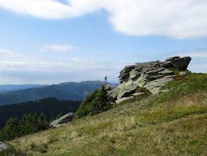Photo: 24.Malownicze skałki na szlaku. Na dalszym planie Veľká Chochuľa (1753 m). Picturesque rocks in Low Tatras (Slovakia). Veľká Chochuľa (1753 m) in the background.