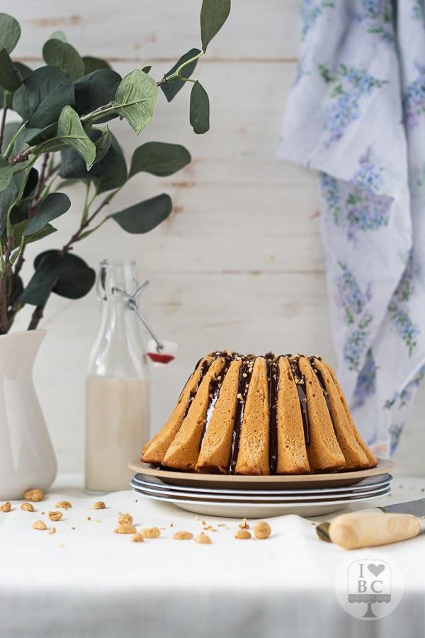 Bundt Cake de crema de cacahuete
