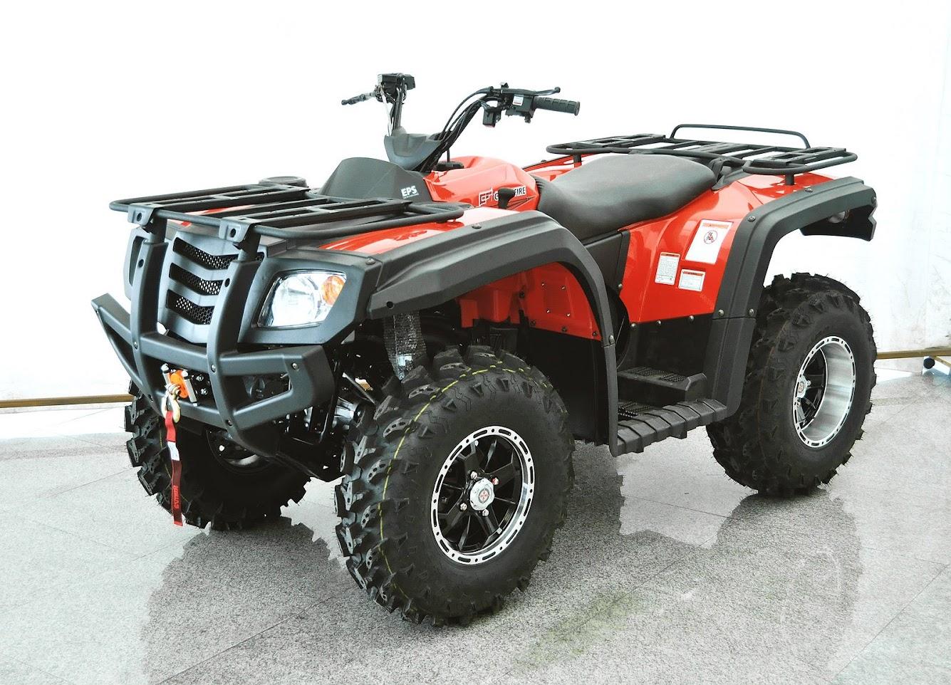 500cc Territory Hisun ATV Farm 4x4 500 Quad Bike White