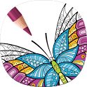 Adult Butterfly Coloring Pages icon