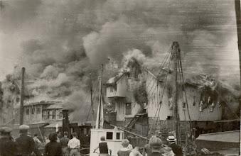 Photo: Brannen på Broene 27 mai 1936. Tatt fra Mudringen.
