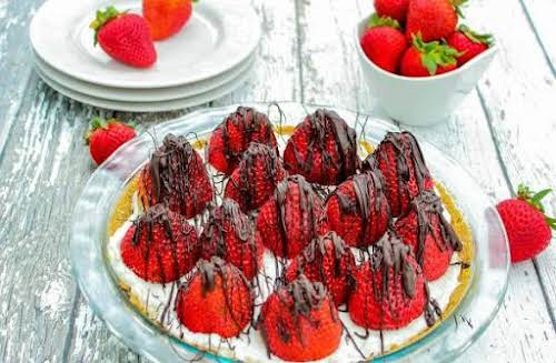 """Strawberries and Cream Pie""""Another way to use those wonderful early summer berries.""""..."""