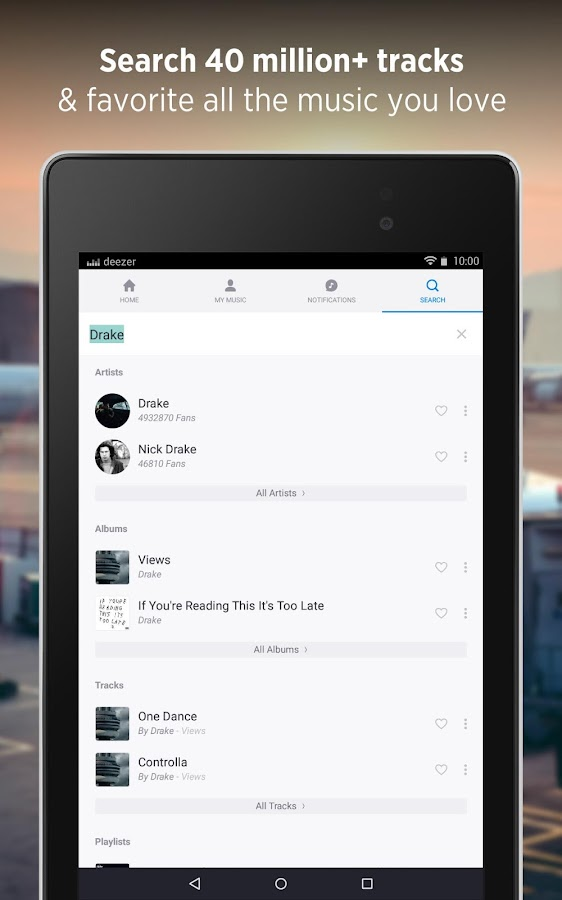 Deezer - Songs & Music Player- screenshot
