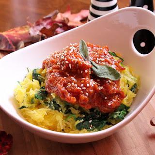 Spaghetti Squash with Moroccan Tomato Jam.