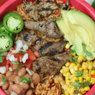 Sizzling Steak Burrito Bowl.