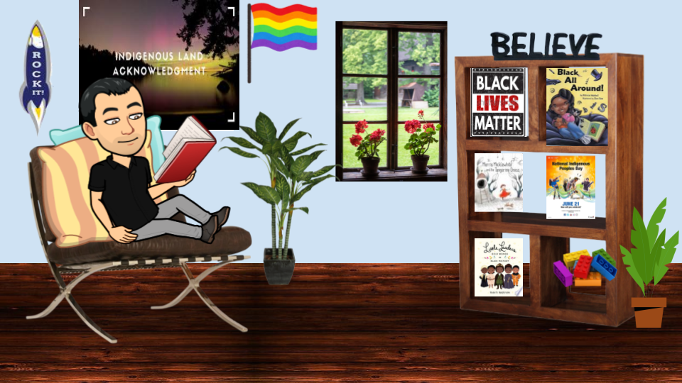 Cartoon depiction of Mr.Vella's office
