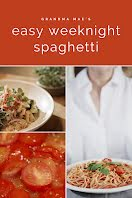 Weeknight Spaghetti - Pinterest Pin item