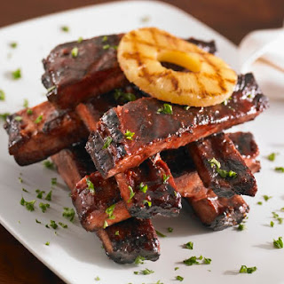 Baked Sweet and Sour Spareribs with Pineapple.