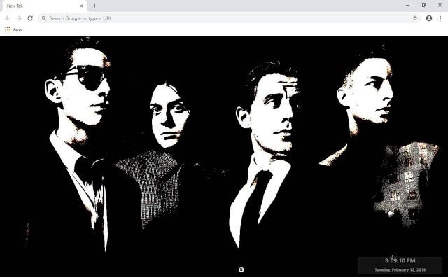 Arctic Monkeys New Tab Theme