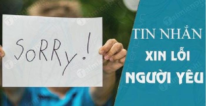 2. Xin lỗi bằng tin nhắn