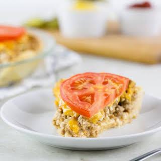 Skinny Cheeseburger Pie.