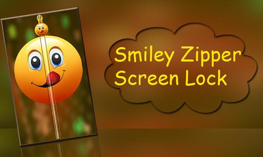 Smiley Zipper Screen Lock