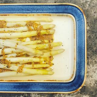 White Asparagus with Miso Vinaigrette Recipe