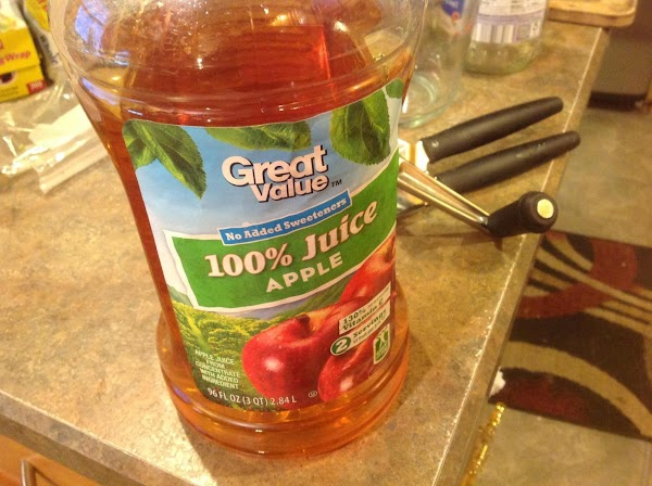 Add in the apple Juice.