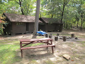 Photo: Yoki cabins 2, 1 fire ring and picnic area