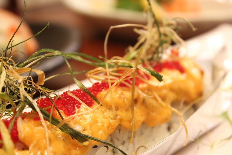 Fish Eggs, Cheese, and Scallops at Ichiban Fish House