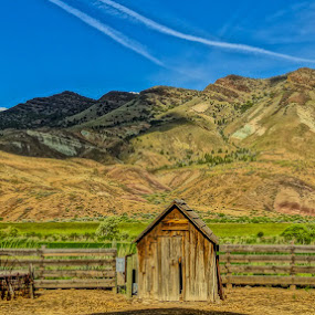 Mountain Ranch by Dennis Mai - Landscapes Mountains & Hills ( farm, countryside, ranch, mountain, country )