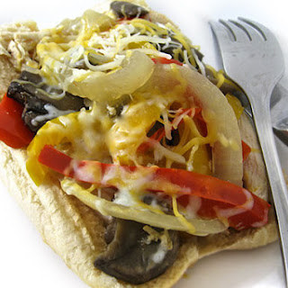 Skinny Philly Chicken Cheesesteak Sandwiches in the Crock-Pot
