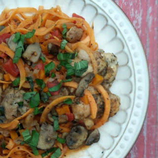 Chicken Cacciatore with Sweet Potato Noodles (paleo and gluten-free)