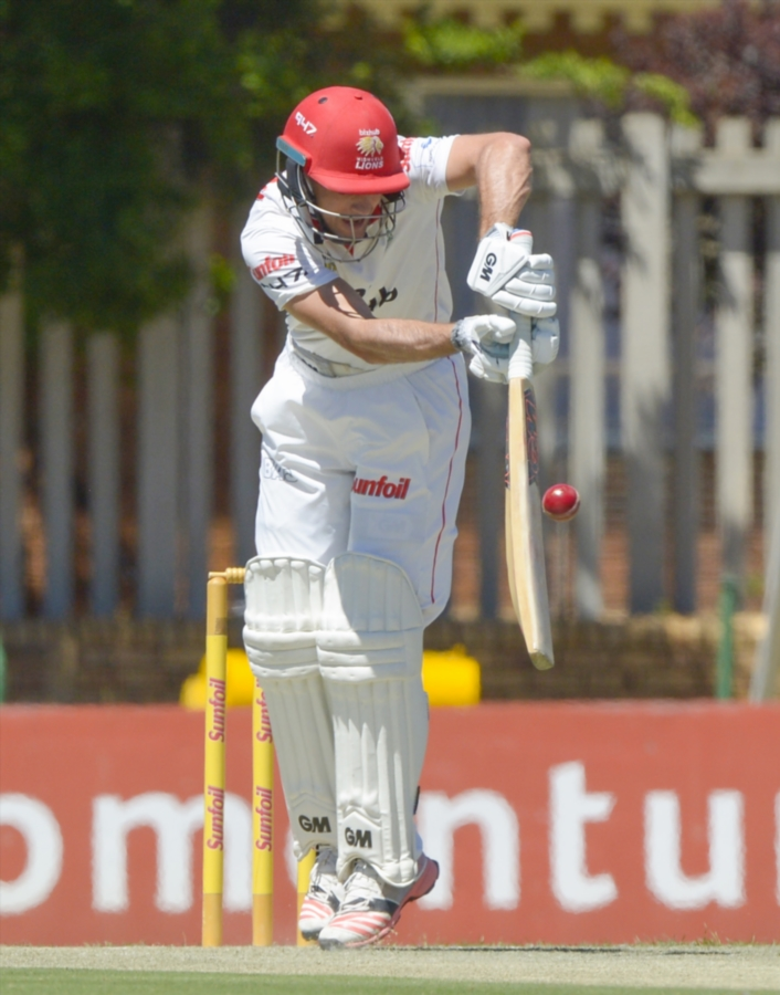 Stephen Cook of the Lions during day 1 of the Sunfoil 4-Day Series match between bizhub Highveld Lions and VKB Knights at Senwes Park on October 16, 2017 in Potchefstroom, South Africa.