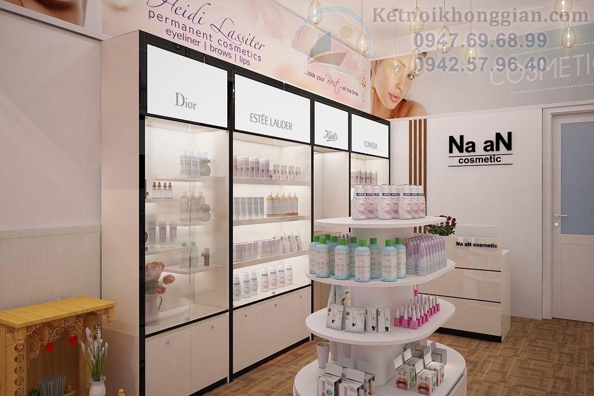 thiết kế shop mỹ phẩm nhập khẩu cao cấp