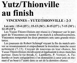 Photo: 27-01-97 N2F Yutz-Thionville y a cru jusqu'au bout et s'offre une victoire à Vincennes 2-3