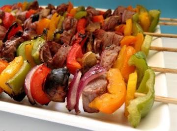 Grilled Winey Beef Skewers Recipe