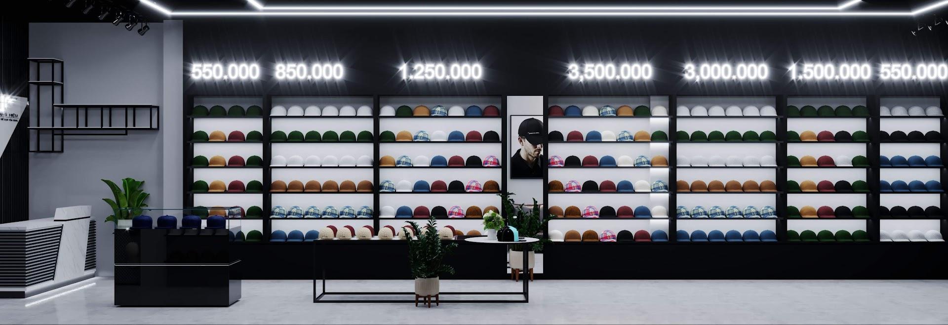 tủ trưng bày mũ