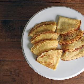 Crêpes Fines Sucrées (Dessert Crepes).