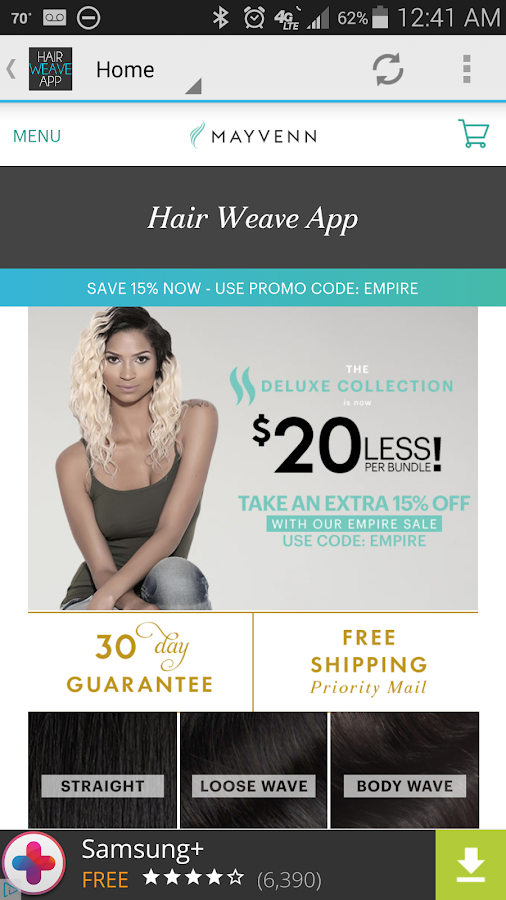 Hair Weave App- screenshot