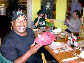 Photo: RainbowCliff with Garret's autographed football... King's Bakery & Restaurant - Torrance, CA 10/16/2007