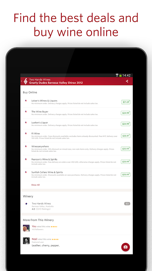 Vivino Wine Scanner- screenshot