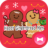 Cute Wallpaper Happy Gingerbread Men Theme